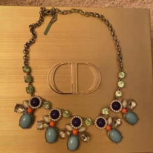 Betsy Johnson turquoise and crystal necklace